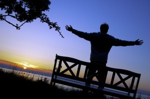 prayer sunset